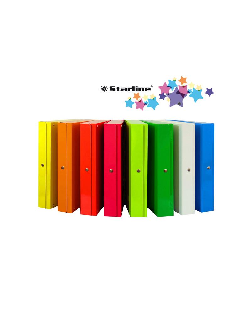 Scatola Portaprogetti Glossy con Bottone Starline - Dorso 8 - 25x35 cm - OD1908LDXXXAC06 (Azzurro Conf. 5)