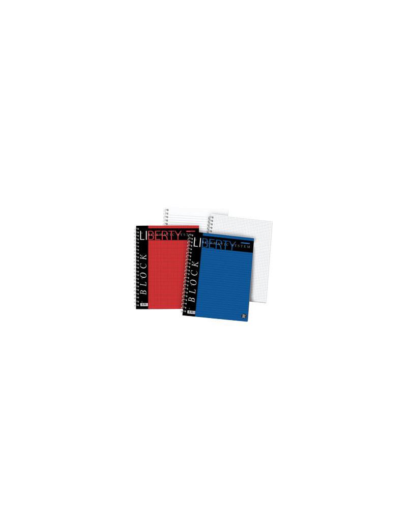 Blocco Spiralato Liberty Pigna - A4 - 1R - 80 Fogli - 01016511R (Blu Conf. 5)