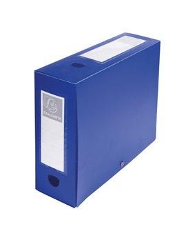 Scatola Archivio Box Exacompta - Dorso 10 - 25x33 cm - 59932E (Blu)