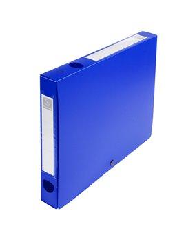 Scatola Archivio Box Exacompta - Dorso 4 - 25x33 cm - 54632E (Blu)
