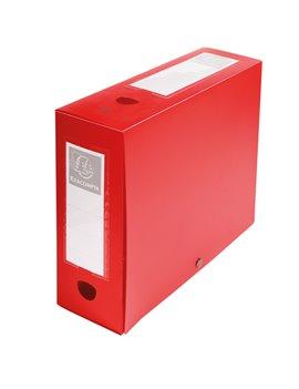 Scatola Archivio Box Exacompta - Dorso 10 - 25x33 cm - 59932E (Rosso)