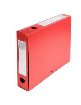 Scatola Archivio Box Exacompta - Dorso 6 - 25x33 cm - 59635E (Rosso)