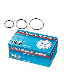 Anelli Metallici Niji - 40 mm - 454 (Conf. 100)