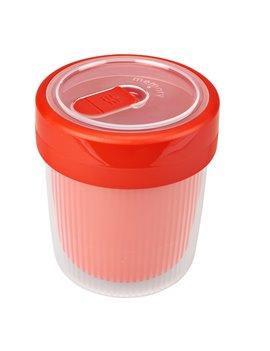 Tazza per Bevande Calde Rotho - 500 ml - F710094 (Rosso e Trasparente)