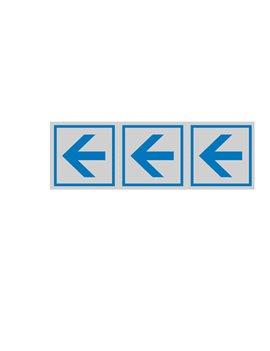 Adesivo di Segnalazione - Freccia Tripla - 150x50 mm - 96600 (Blu e Grigio Conf. 10)
