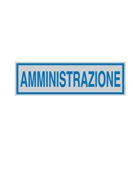 Adesivo di Segnalazione - Amministrazione - 165x50 mm - 96691 (Blu e Grigio Conf. 10)