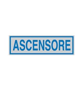 Adesivo di Segnalazione - Ascensore - 165x50 mm - 96688 (Blu e Argento Conf. 10)