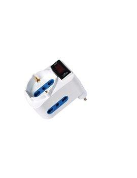 Adattatore di Rete MKC - Spina 16A - 2 Prese 10A - 492519356 (Bianco)