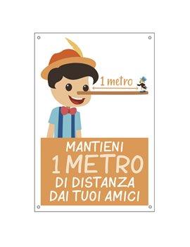 Cartello di Comunicazione - Mantieni 1 Metro di Distanza dai Tuoi Amici - 300x200 mm - 35551