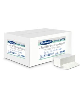 Asciugamani a V Comfort Bulky Soft - 2 Veli - 210 Strappi - 84550 (Bianco Conf. 15)