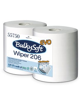 Bobina Asciugatutto Classic Bulky Soft - 2 Veli - 800 Strappi - 55750 (Bianco Conf. 2)