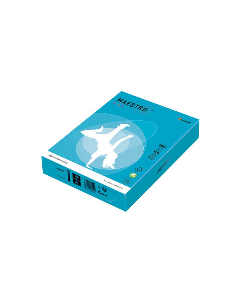Carta Colorata Maestro Color Mondi - A4 - 160 g - 7238 (Azzurro Forte Conf. 250)
