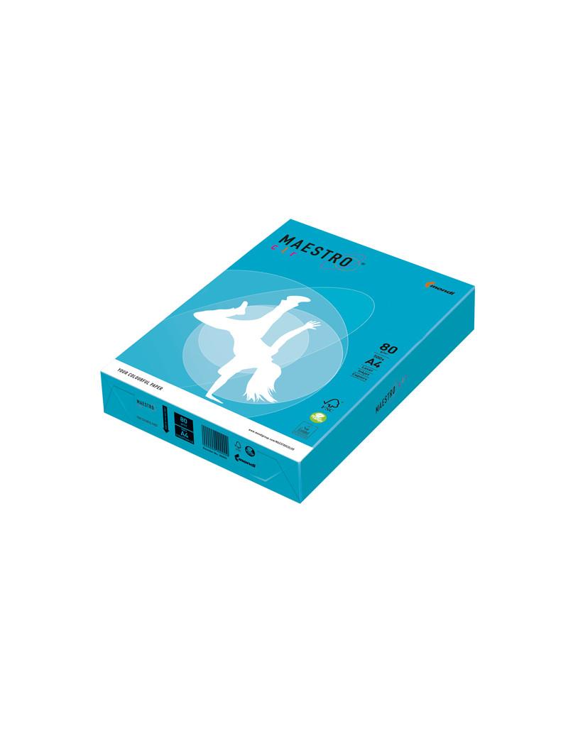 Carta Colorata Maestro Color Mondi - A4 - 80 g - 7038 (Azzurro Forte Conf. 500)