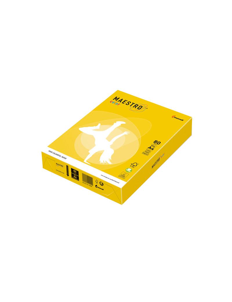 Carta Colorata Maestro Color Mondi - A4 - 80 g - 7042 (Giallo Forte Conf. 500)