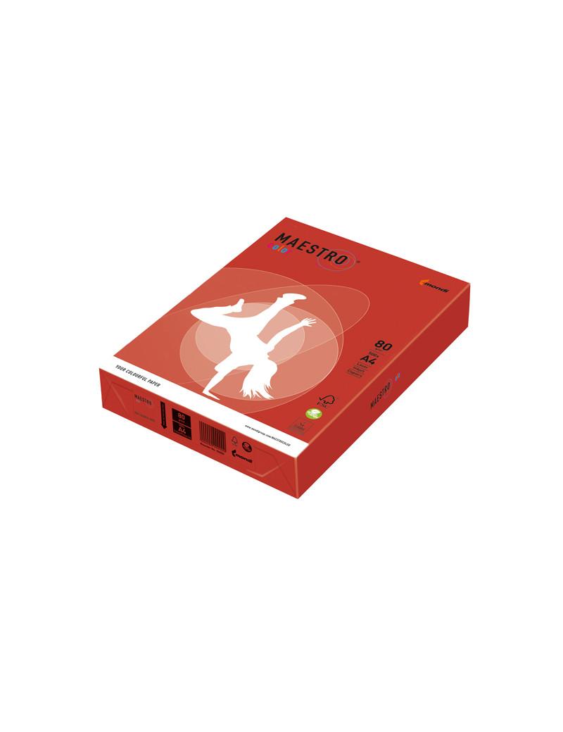 Carta Colorata Maestro Color Mondi - A4 - 80 g - 7021 (Rosso Forte Conf. 500)