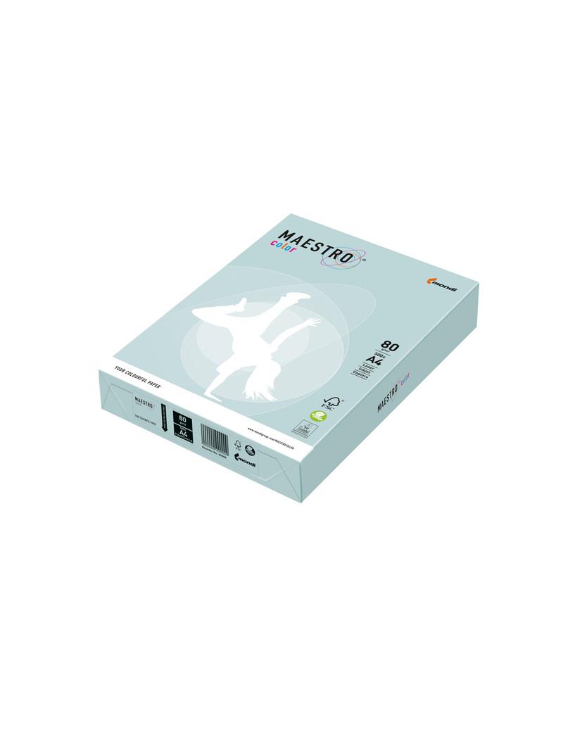 Carta Colorata Maestro Color Mondi - A4 - 80 g - 7008 (Azzurro Tenue Conf. 500)
