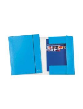 Cartella 3 Lembi con Elastico WoW Leitz - 39830036 (Azzurro Metallizzato Conf. 5)