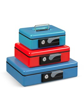 Cassetta Portavalori Deluxe Iternet - 19,7x15,4x8 cm - 3413BL (Blu)