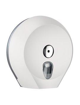 Dispenser per Carta Igienica Mini Jumbo Mar Plast - 27x12,8x27,3 cm - A75610BI (Bianco)