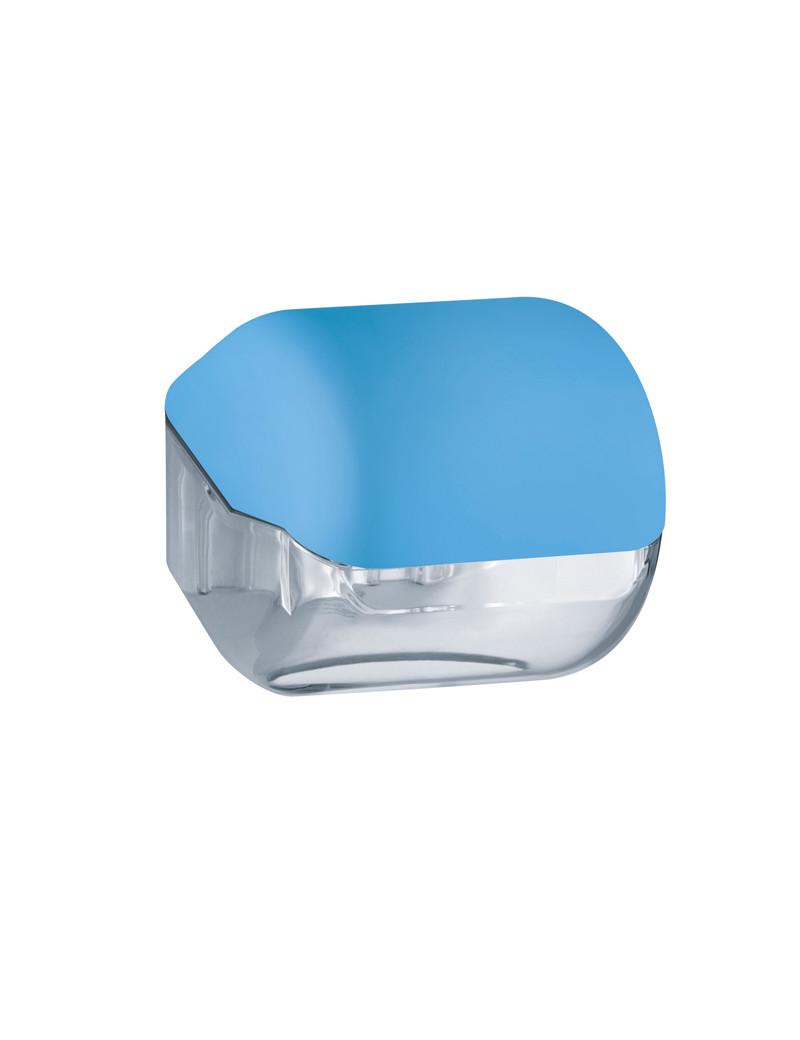 Dispenser per Carta Igienica in Rotolo o Interfogliata Mar Plast - 15x14,8x14 cm - A61900AZ (Azzurro)
