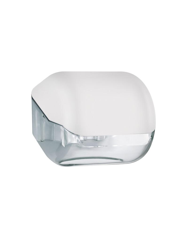 Dispenser per Carta Igienica in Rotolo o Interfogliata Mar Plast - 15x14,8x14 cm - A61900BI (Bianco)