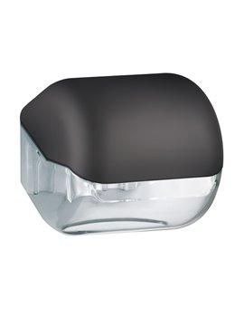 Dispenser per Carta Igienica in Rotolo o Interfogliata Mar Plast - 15x14,8x14 cm - A61900NE (Nero)