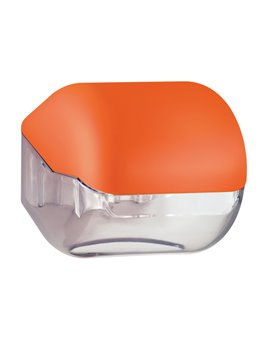 Dispenser per Carta Igienica in Rotolo o Interfogliata Mar Plast - 15x14,8x14 cm - A61900AR (Arancione)