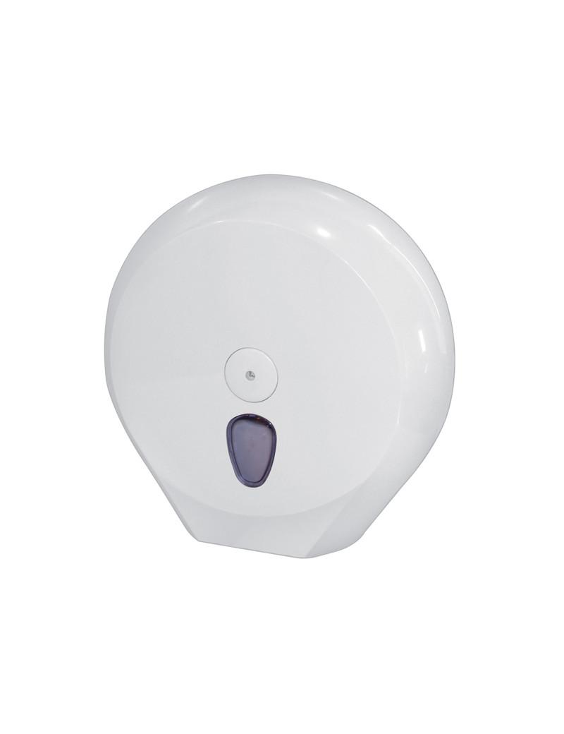 Dispenser per Carta Igienica Maxi Jumbo Mar Plast - 33,5x12,8x33,5 cm - 75811 (Bianco)