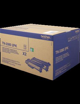 Multipack Toner Originali Brother TN-3380 2PK (Nero Conf. 2)