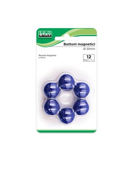 Magneti per Lavagne Lebez - 20 mm - MR-20-BL (Blu Conf. 12)
