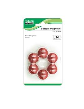 Magneti per Lavagne Lebez - 20 mm - MR-20-N (Rosso Conf. 12)