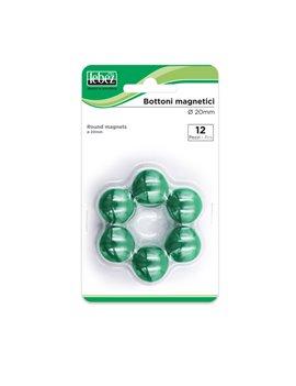 Magneti per Lavagne Lebez - 20 mm - MR-20-V (Verde Conf. 12)