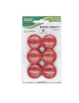 Magneti per Lavagne Lebez - 30 mm - MR-30-N (Rosso Conf. 12)
