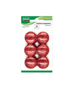 Magneti per Lavagne Lebez - 40 mm - MR-40-N (Rosso Conf. 12)