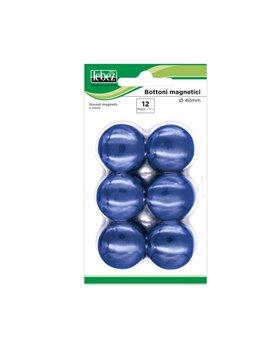 Magneti per Lavagne Lebez - 40 mm - MR-40-BL (Blu Conf. 12)
