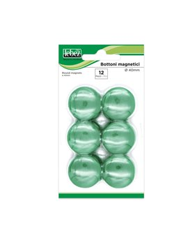 Magneti per Lavagne Lebez - 40 mm - MR-40-V (Verde Conf. 12)