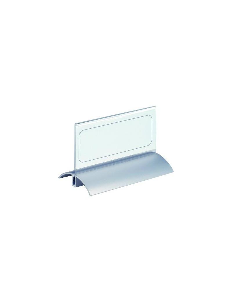 Portanome da Tavolo Desk Presenter De Luxe Durable - 6,1x15 cm (Trasparente Conf. 2)