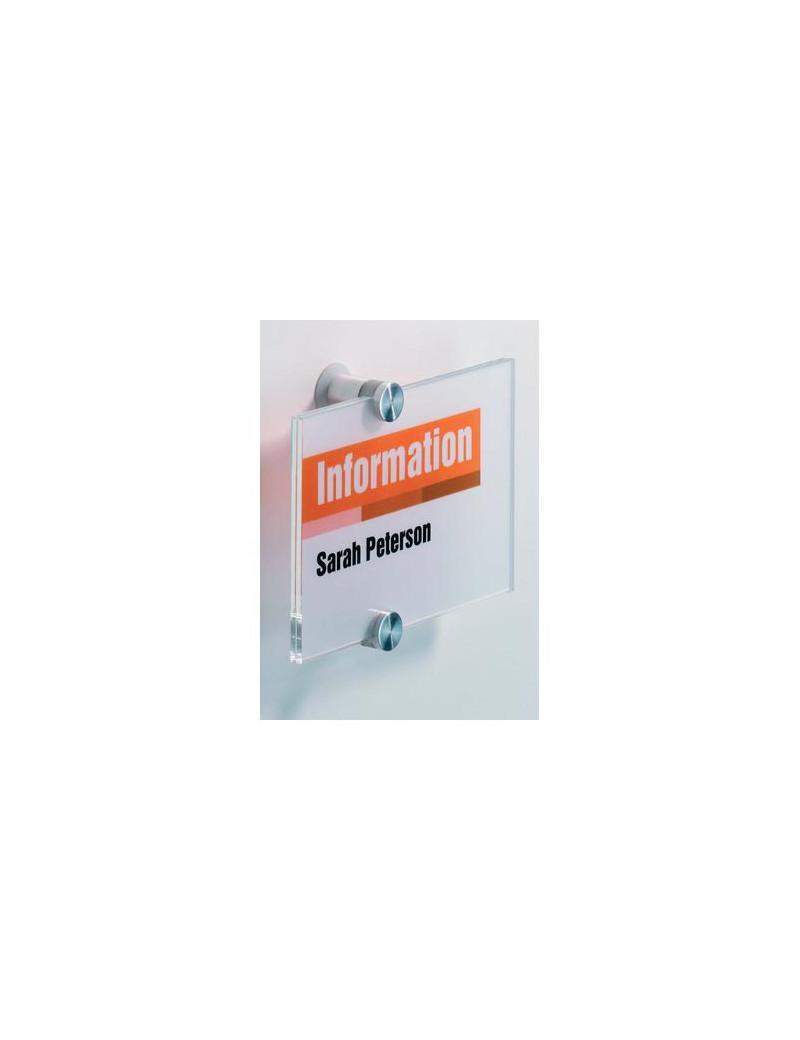 Targa Crystal Sign Durable - 14,8x10,5 cm - 4821-19 (Trasparente)