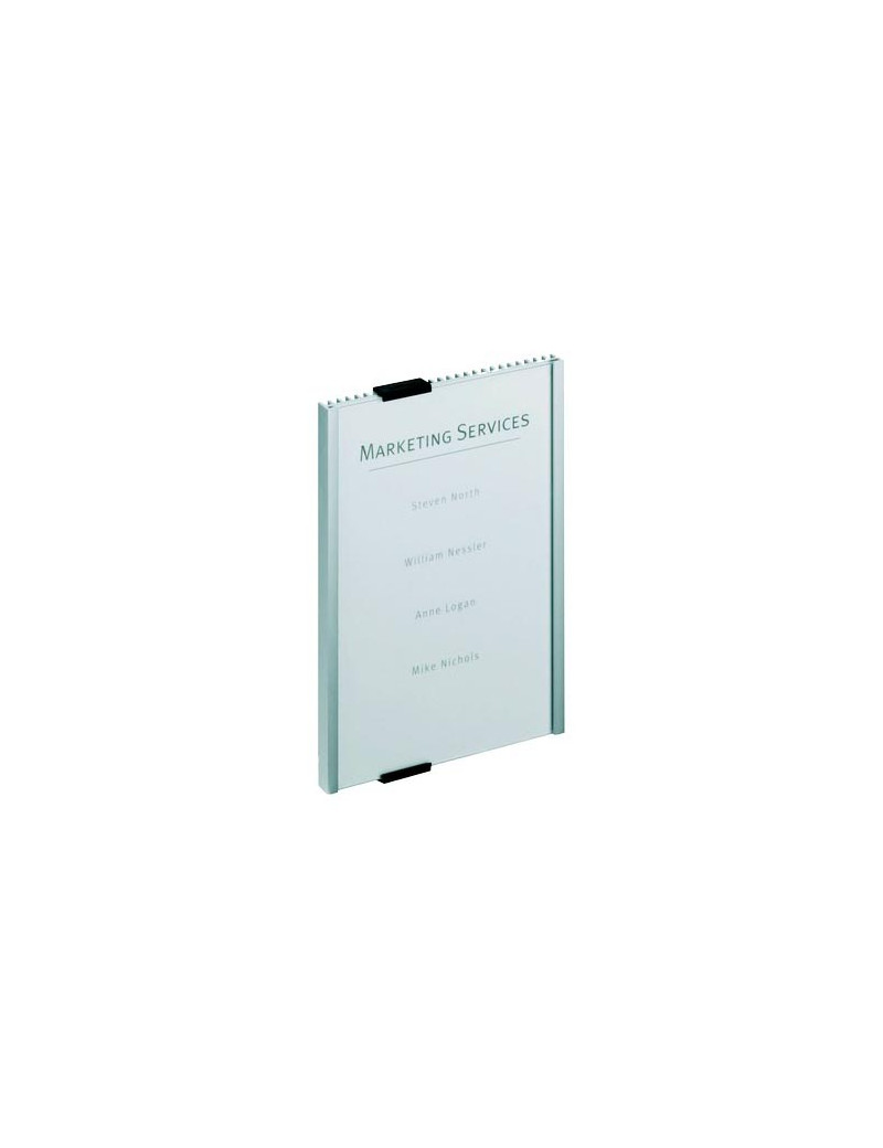 Targa Info Sign Durable - 14,9x21,05 cm (Argento Metallizzato)