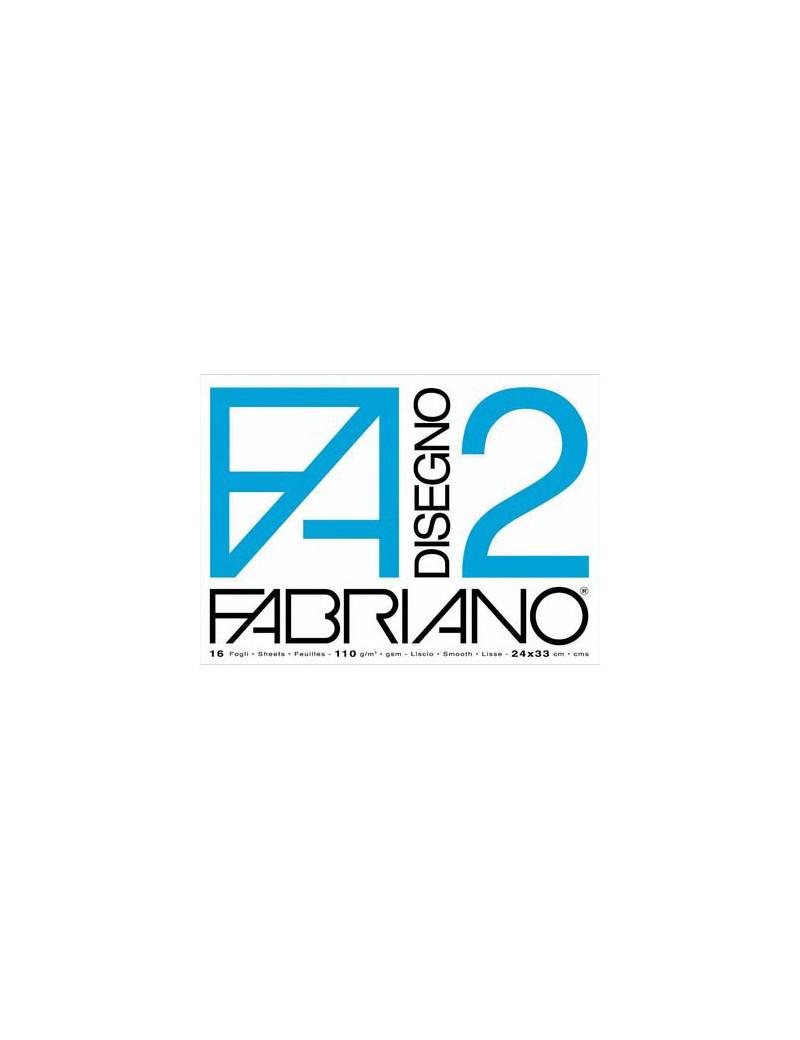 Album da Disegno Fabriano 2 - 24x33 cm - Liscio a Punti Metallici (Bianco)