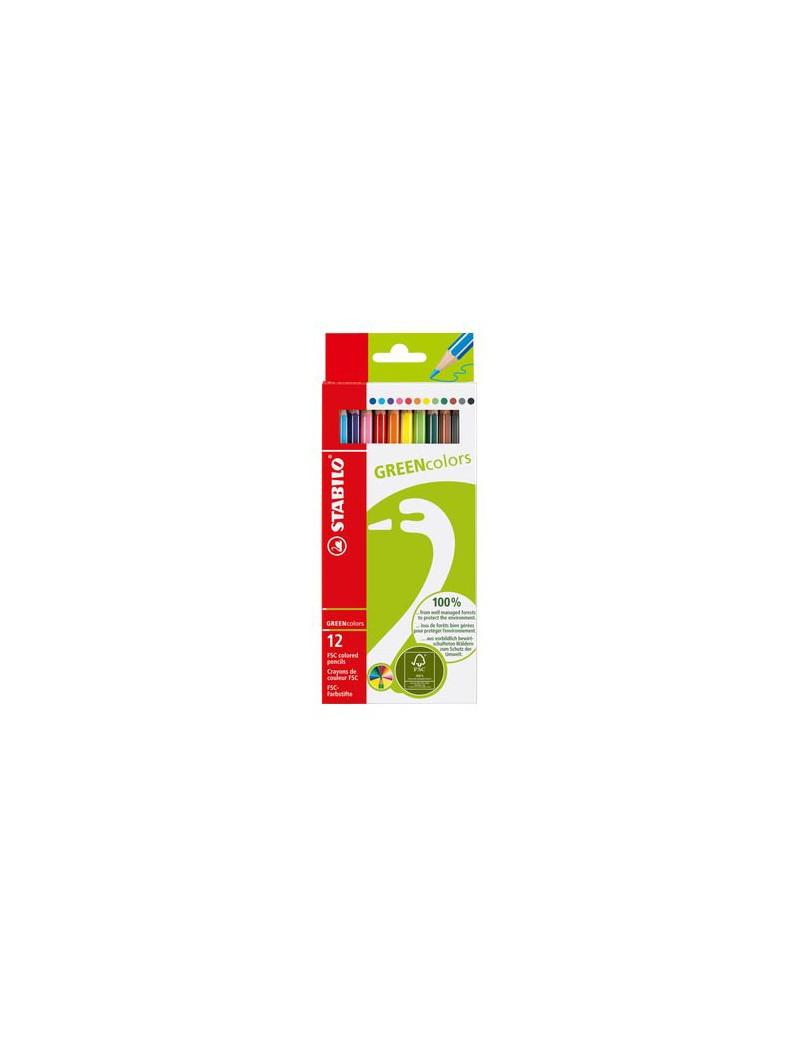 Matite Colorate GREENcolors Stabilo - 2,8 mm (Assortiti Conf. 12)