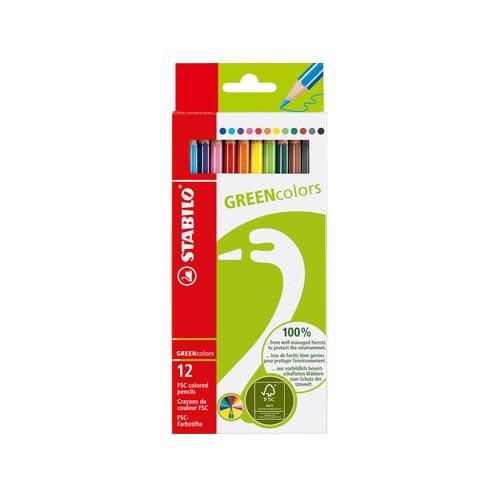 Matite-Colorate-GREENcolors-Stabilo-2-8-mm-6019-2-121-Assortiti-Conf-12