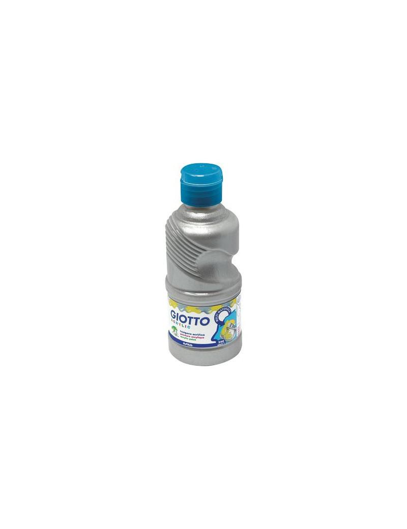 Tempera Acrilica Giotto - 250 ml (Argento)