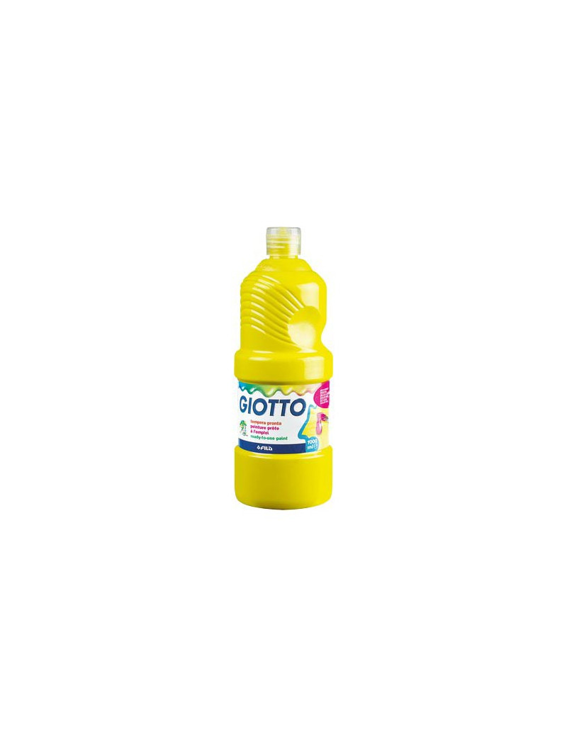 Tempera Pronta Giotto - 1000 ml (Giallo Primario)