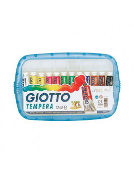 Tubetto Tempera Giotto - 12 ml (Assortiti Conf. 12)