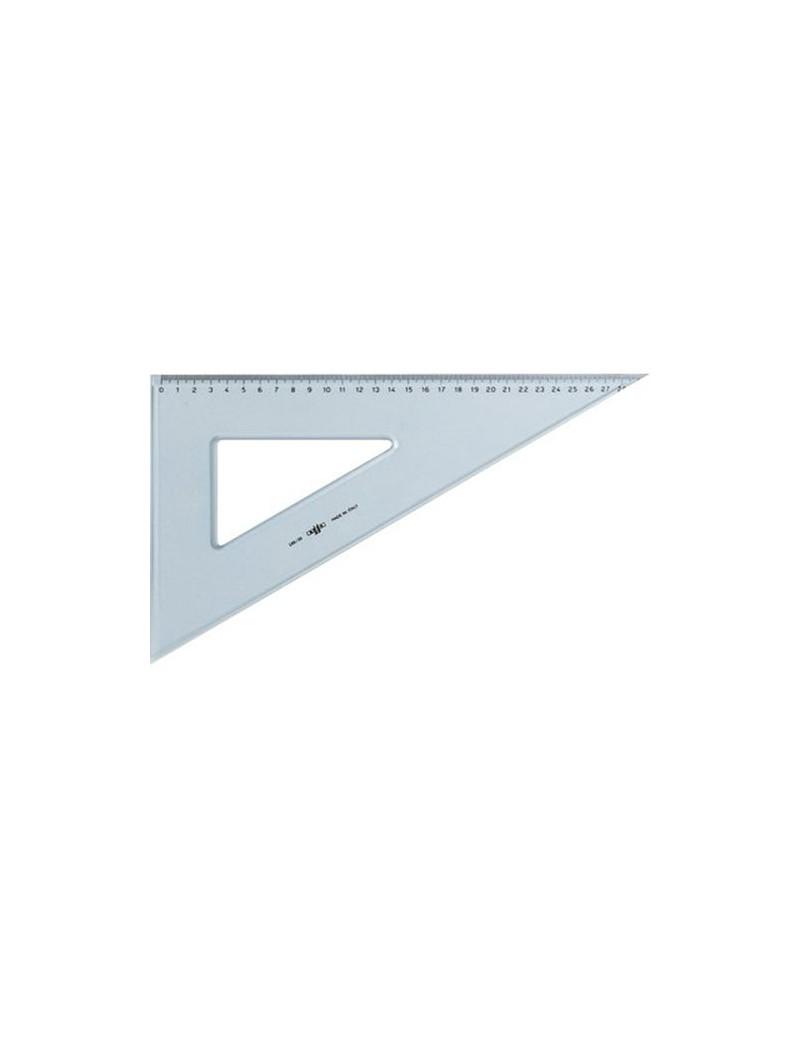 ARDA Squadra 60/° 30 cm Linea Uni Polistirolo Trasparente