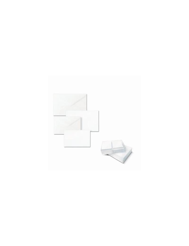 Biglietti e Buste Ellebi Sadoch - Bristol - 9x14 cm - 8309 (Bianco Conf. 100)