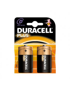 Pile Duracell Plus - Torcia D - GILMN1300 (Conf. 2)