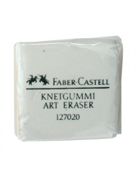 Gomma Pane Faber Castell - 36x36x10 mm - 127154 (Bianco Conf. 18)