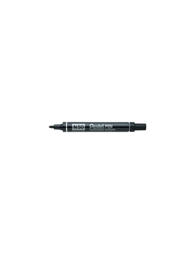 Marcatore Permanente N50 Pentel - Punta Tonda - 4,3 mm - N50-C (Blu)
